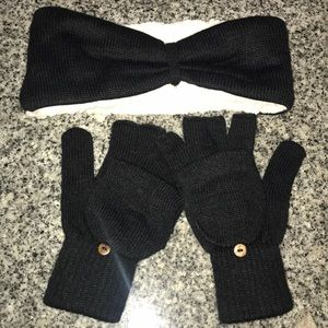 Bear paw matching headband and gloves